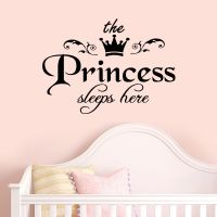Princess Sleeps Baby Kids Girl Quote Wall Stickers Art ...