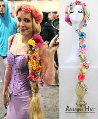Movie Tangled Princess Rapunzel Wig for Cosplay Long ...