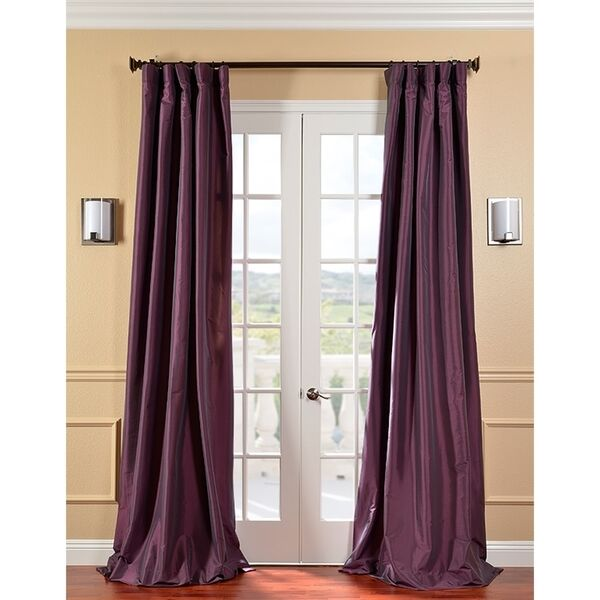 Faux Silk Curtain Panel  Lined  Deep Purple  50W x 120L  eBay