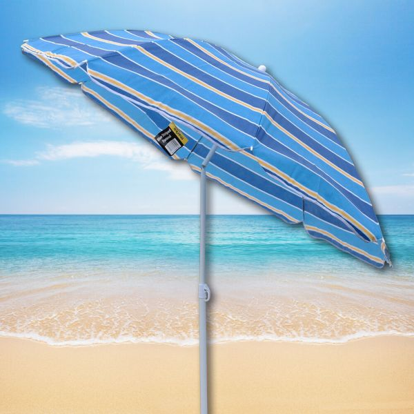 Blue Striped Beach Umbrella