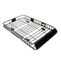 "64"" Black Universal Roof Rack w/Extension Cargo Top"