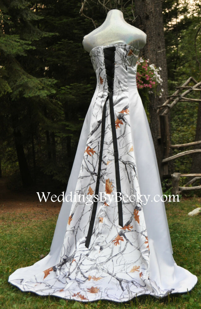 NEW Camo Truetimber Wedding Gown REALTREE Or Mossy Oak