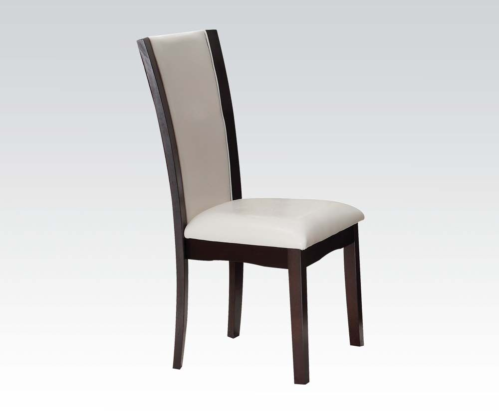 Unique Style Modern High Back Dining Chairs White PVC