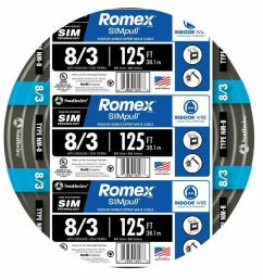 details about 125 ft roll 8 3 awg gauge indoor house electrical copper wire ground romex cable [ 900 x 900 Pixel ]