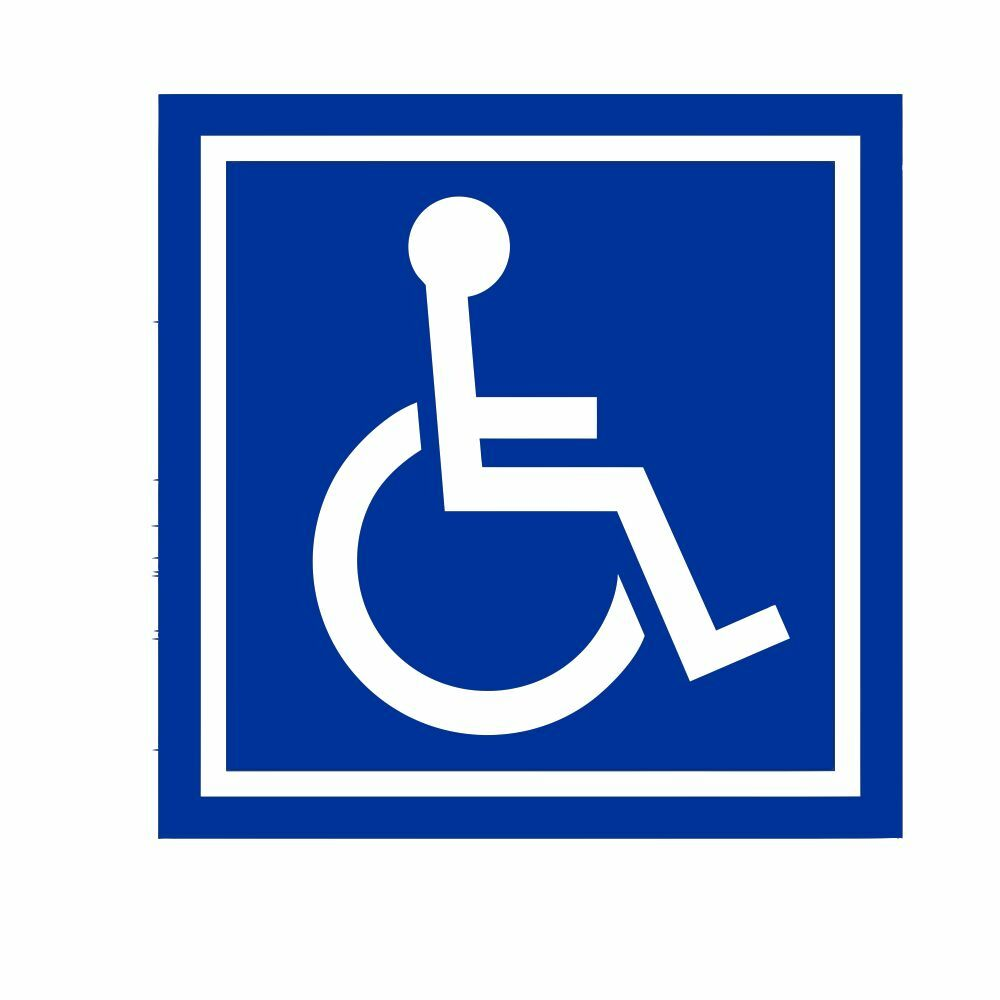 wheelchair accessories ebay eiffel chair oak legs handicap accessible ada vinyl decal sticker self adhesive die cut |