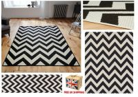 ALL SIZES Chevron Malmo Utility Rugs Hall Runners Zig Zag ...