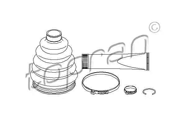 Front Axle Drive Shaft CV Boot Kit Fits OPEL Astra