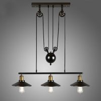 LOFT Vintage Pulley Pendant Ceiling Light Hanging Lamp ...