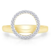 Halo Solitaire Enhancer 14k Yellow Gold 7mm Real Diamond ...