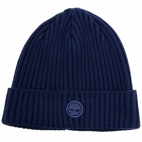 Timberland Men' Fitted Sapphire Knit Watch Cap Beanie Hat Size Fits
