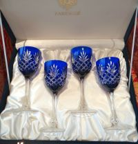 FABERGE ODESSA WINE GLASS GOBLETS, ALL signed Faberge 1 ...