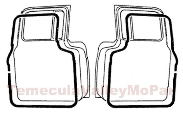Trunk Weatherstrip For 1949 1954 Plymouth Dodge Desoto