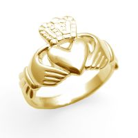 Claddagh Ring 9ct Gold Mens Substantial Ring Large Sizes