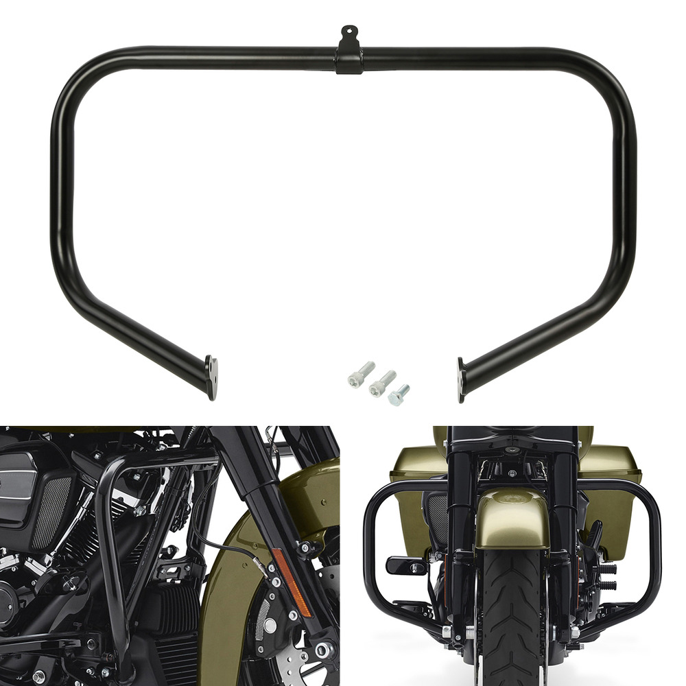 Black Engine Guard Highway Crash Bar For Harley-Davidson