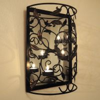 Wall Mounted Metal Candle Holder with Mirror/Sconce/Shabby ...
