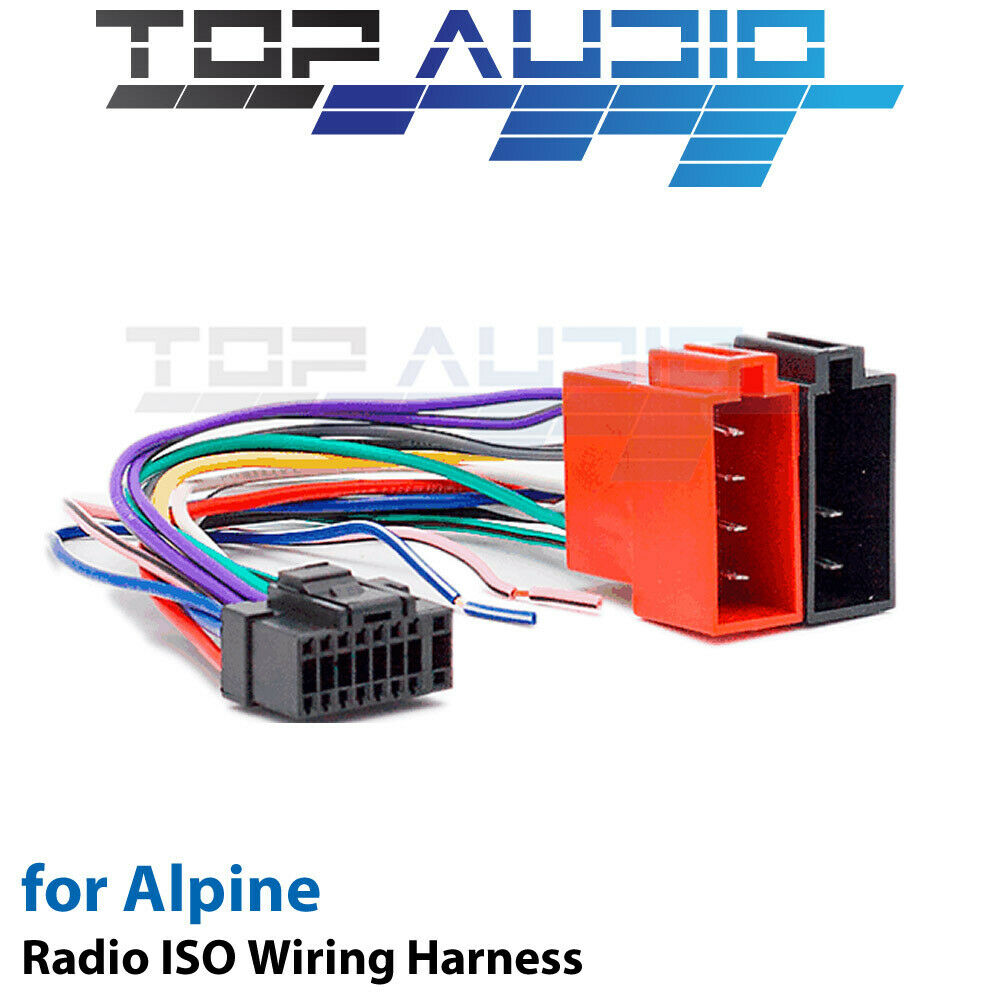 hight resolution of alpine cde 150e iso wiring harness cable adaptor connector lead loom plug ebay