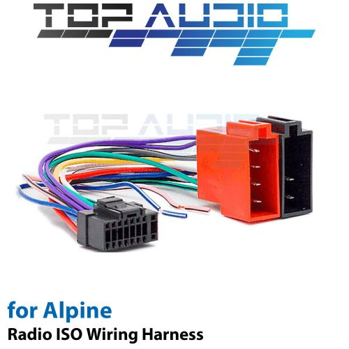 small resolution of alpine cde 150e iso wiring harness cable adaptor connector lead loom plug ebay