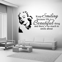 Marilyn Monroe Keep Smiling Wall Art Sticker Mural Decal ...