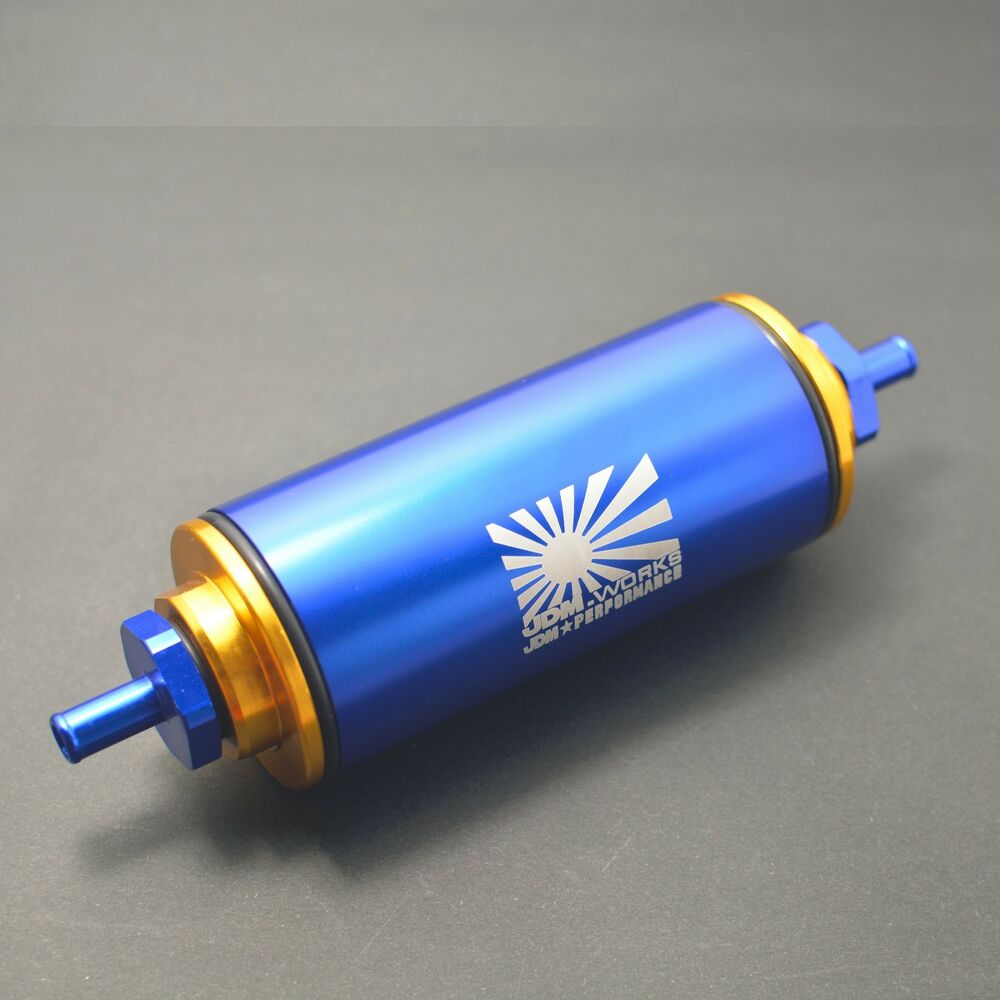 Blue 100 Micron Fuel Filter Inline An1 Stainless Steel Ss