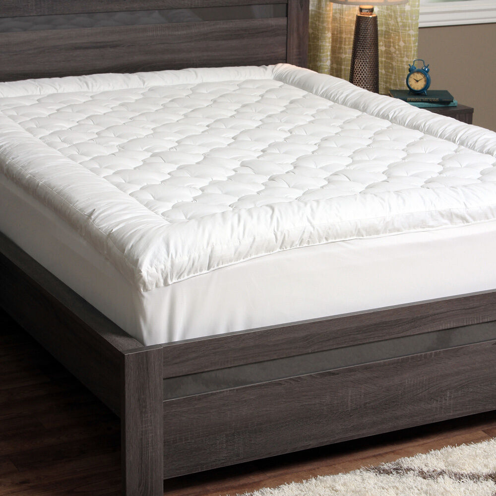Quilted PillowTop Mattress Pad Bed Cover Topper Bedding