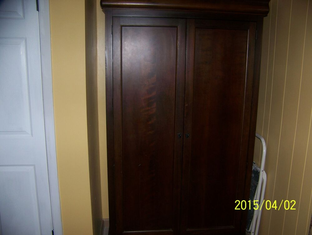 Bedroom Wardrobe Armoir Storage Clothes Closet Cabinet Wood Finish Sturdy 704798801732  eBay