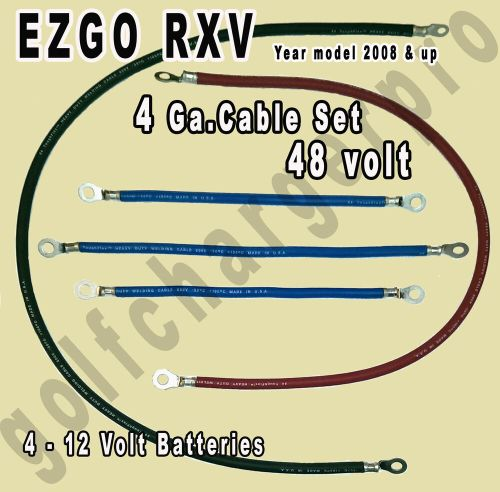 small resolution of ezgo rxv golf cart 48 volt 4 gauge heavy duty battery cable wiring set ebay