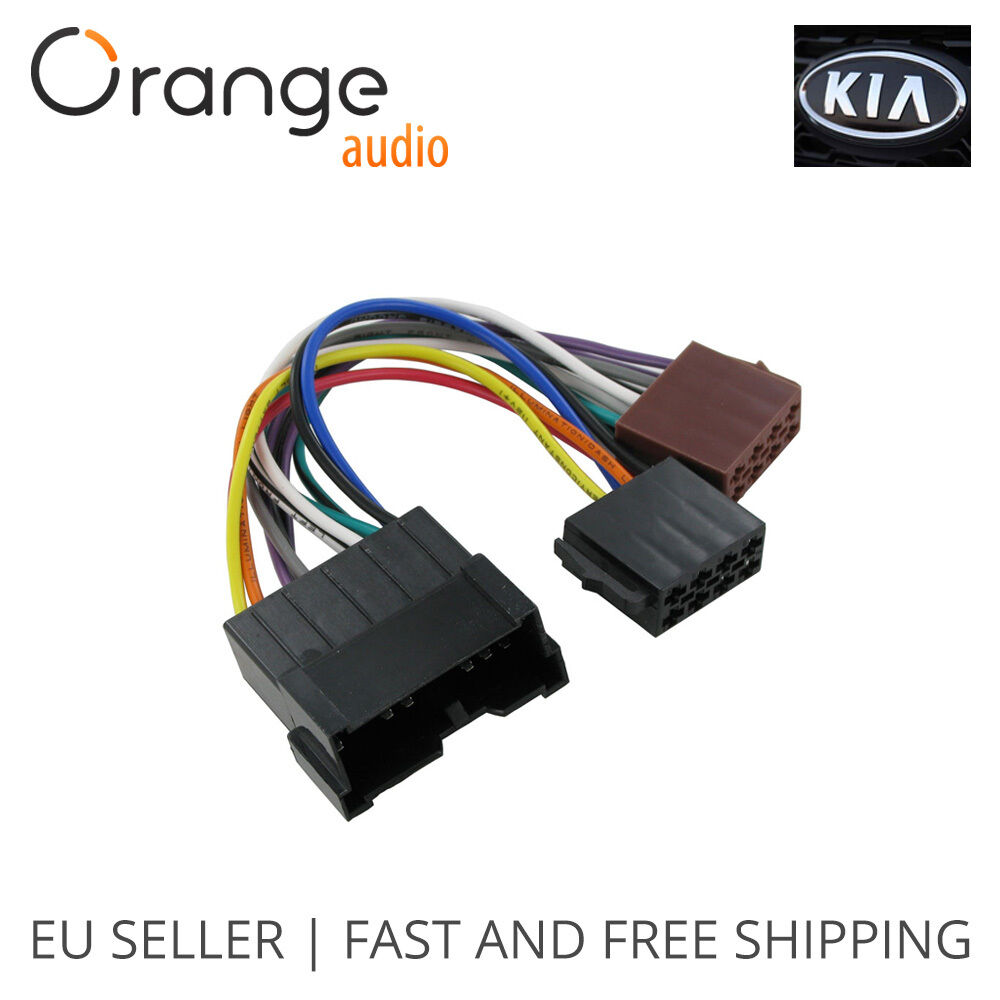 hight resolution of details about wiring harness adapter for kia iso connector stereo plug adaptor type 2