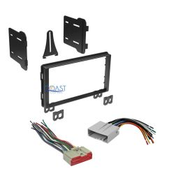 car radio stereo double din dash kit wire harness for 2003 ford radio wiring harness ford truck wiring harness kit [ 1000 x 1000 Pixel ]