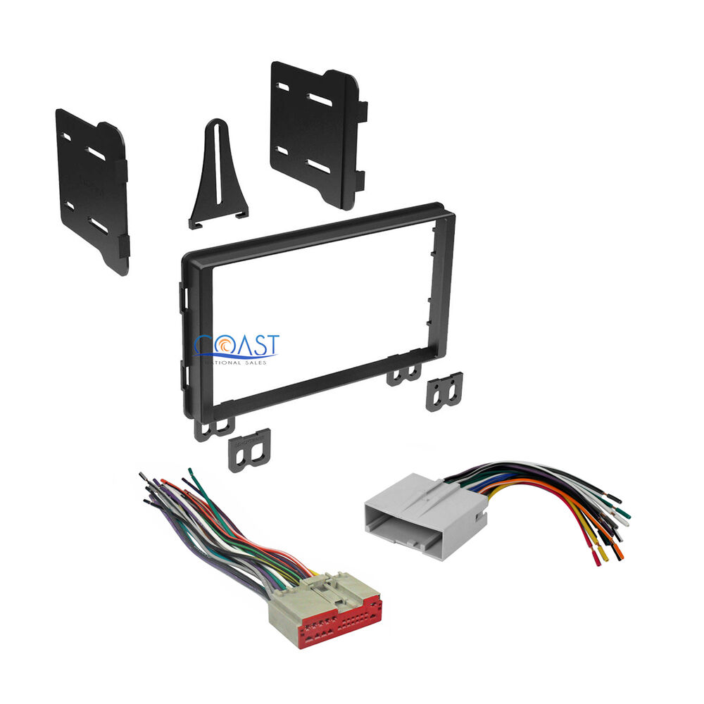 hight resolution of car radio stereo double din dash kit wire harness for 2003 ford radio wiring harness ford truck wiring harness kit