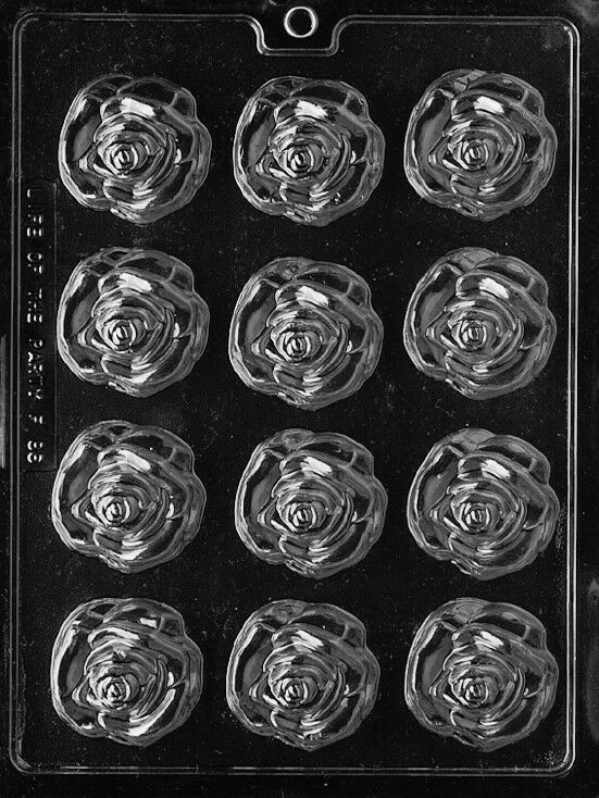 MEDIUM OPEN ROSE PIECES Mold Chocolate Candy Soap Molds