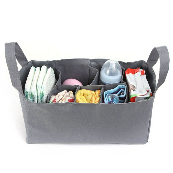 Large Mummy Handbag Organizer Baby Nappy Diaper Bottle Storage Insert Bag