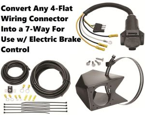 UNIVERSAL 4FLAT TO 7WAY WIRING CONVERTER KIT FOR USE W