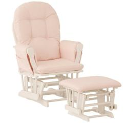 Glider Chair Ottoman Sit To Stand Lift Nursery Baby Rocker Furniture Set Pink White Details About Wood Infant