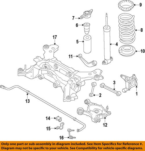 small resolution of details about ford oem rear suspension shock mount dg9z18a161c