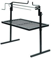 Camping Rotisserie Grill BBQ Spit Rack Cooking Fire Pit