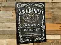 Jack Daniels Old No. 7 Label Metal Wall Art - Sign - Bar ...