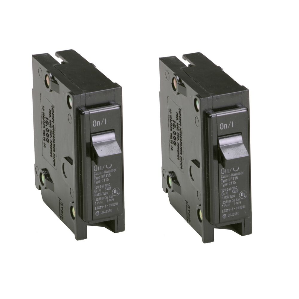hight resolution of details about 2x eaton 15 amp bryant br trip fuse box single pole light circuit breaker switch