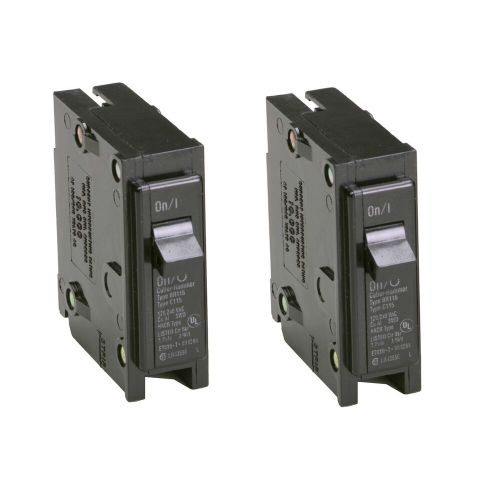 small resolution of details about 2x eaton 15 amp bryant br trip fuse box single pole light circuit breaker switch