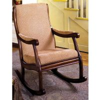 Liverpool Classic Rocker Rocking Chair Padded Fabric Seat