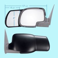 2 CLIP-ON TOWING MIRRORS tow extension side rear view ...