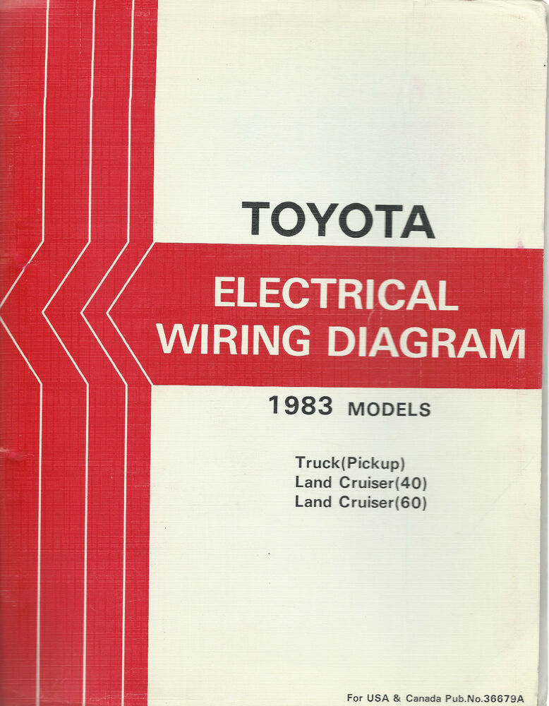 1983 toyota pickup wiring diagram club car no spark troubleshooting land cruiser fj bj 40 series electrical repair manual | ebay