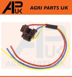 details about massey ferguson 135 etc tractor headlight headlamp wiring plug socket wire 3 pin [ 1000 x 1000 Pixel ]