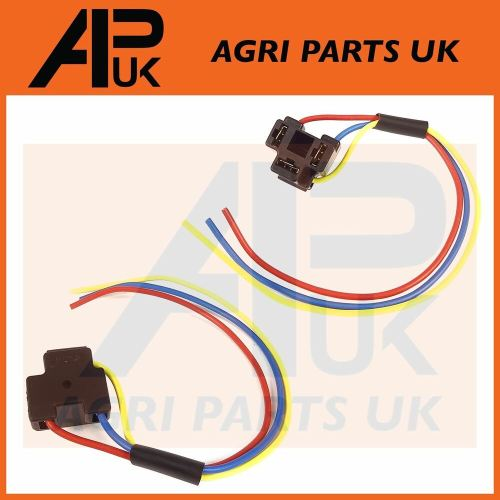 small resolution of details about 2x massey ferguson 135 148 165 240 290 550 590 690 tractor headlight plug wiring