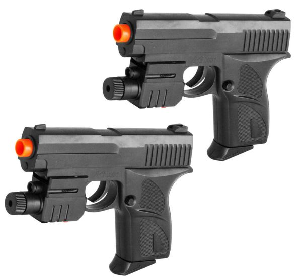 2 Airsoft Guns Pistols With Laser Sight 6mm Bb