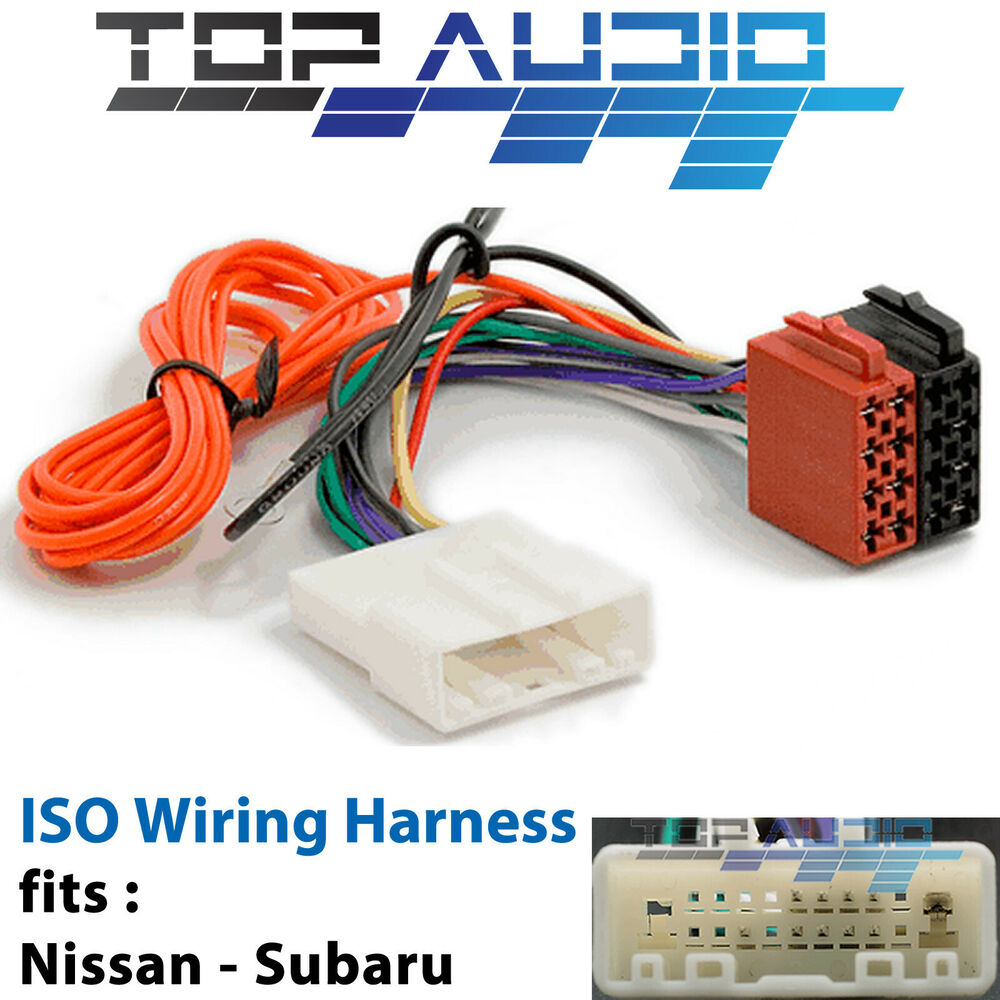 hight resolution of fit nissan navara d40 iso wiring harness adaptor cable connector lead loom plug ebay