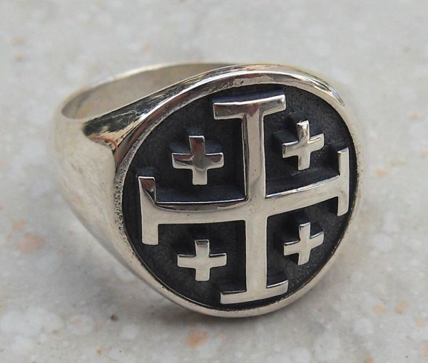 Solid Sterling Silver 925 3d Cross Ring