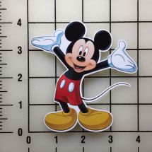 """Mickey Mouse 4"""" Wide Vinyl Decal Sticker - Bogo"""