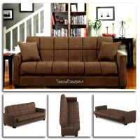 Futon Convertible Couch Sofa Bed Microfiber Sleeper Living ...