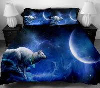 3D Wolf Bedding set Twin Full Size Duvet Cover Bed Sheet ...