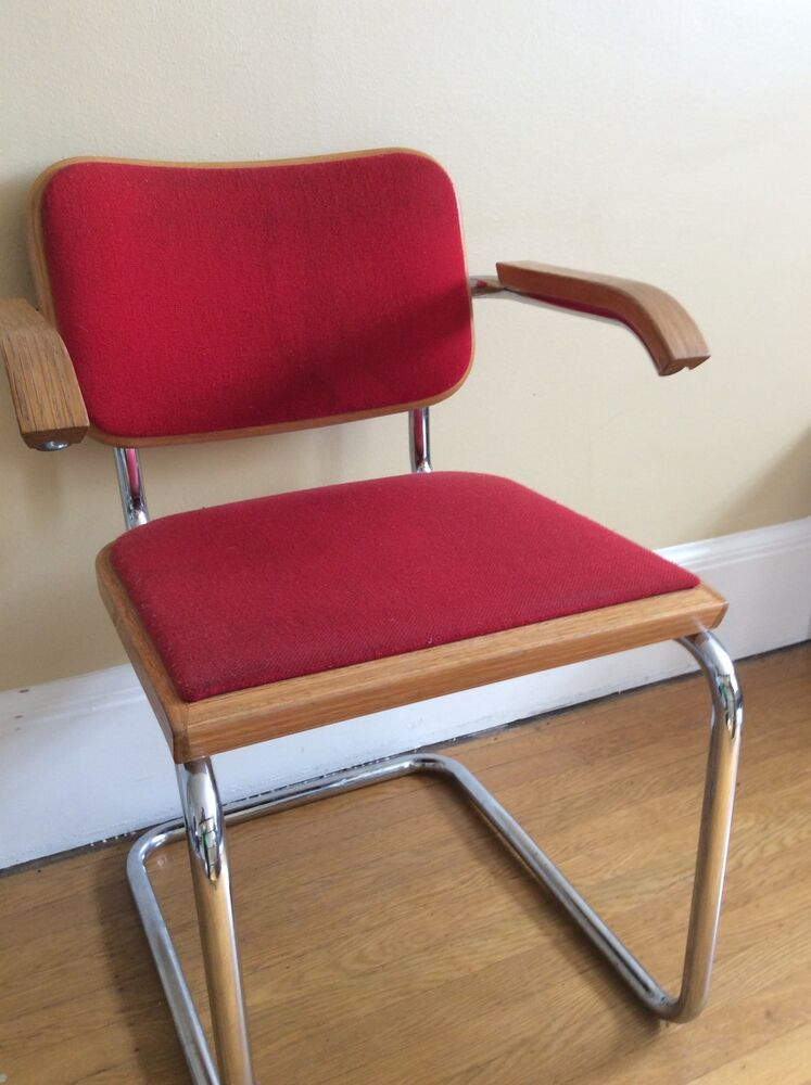 marcel breuer chair original workpro office vintage cesca signed knoll | ebay